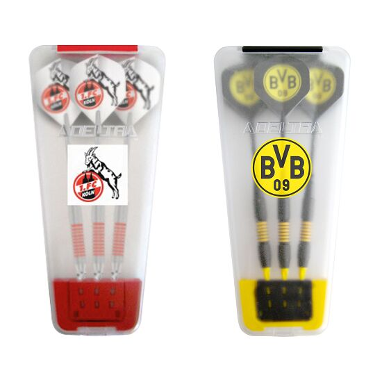 "Kings Dart® Softdart-Set ""Bundesliga"" in Turnierbox 1. FC Köln/Borussia Dortmund"