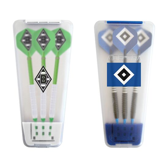 "Kings Dart® Softdart-Set ""Bundesliga"" in Turnierbox Hamburger SV/Borussia Mönchengladbach"