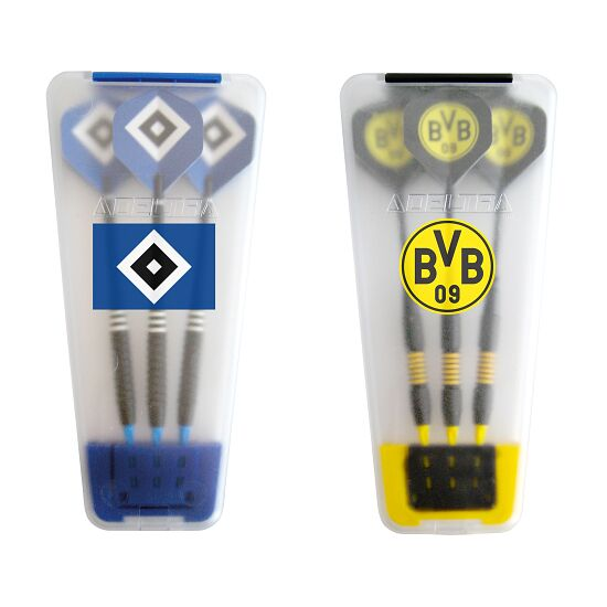 "Kings Dart® Softdart-Set ""Bundesliga"" in Turnierbox Hamburger SV/Borussia Dortmund"