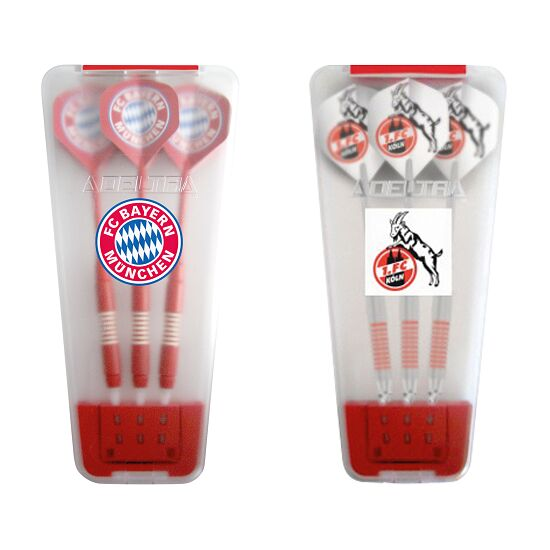 "Kings Dart® Softdart-Set ""Bundesliga"" in Turnierbox FC Bayern München/1. FC Köln"