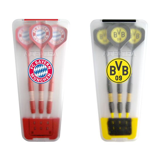"Kings Dart® Softdart-Set ""Bundesliga"" in Turnierbox FC Bayern München/Borussia Dortmund"