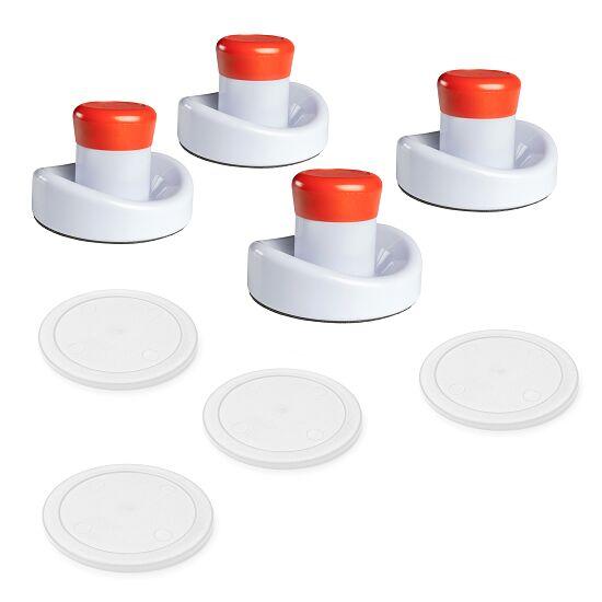 Automaten Hoffmann Airhockey Zubehör-Set 4 Pusher (ø 95 mm), 4 Pucks (ø 75 mm), Weiß