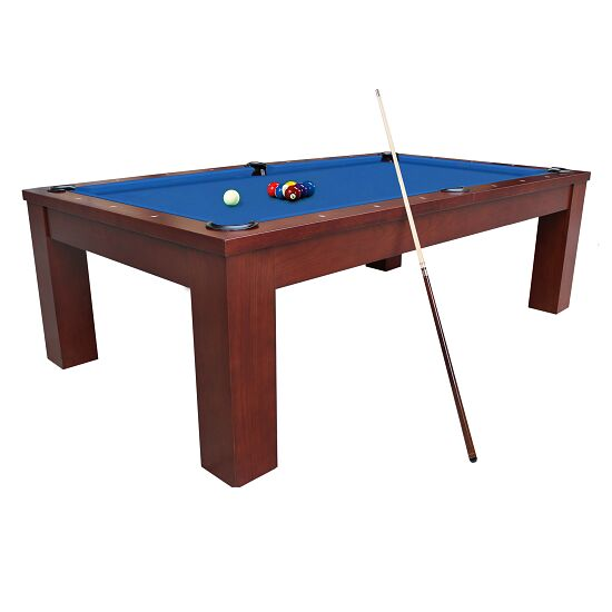 "Automaten Hoffmann Billardtisch ""Ambiente in Nussbaum 8ft"" Simonis 860 Tournament-Blue"