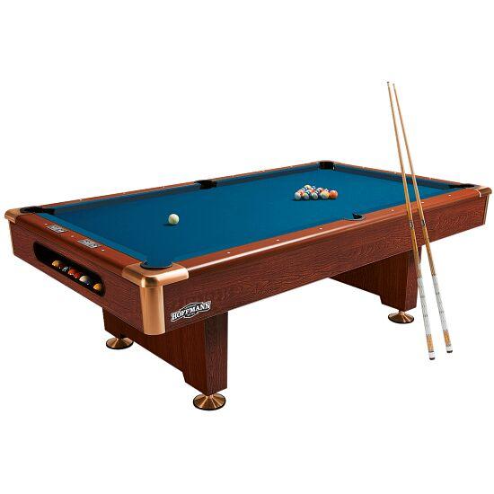"""Automaten Hoffmann Billardtisch """"Club Pro in Nussbaum"""" 7 ft (Spielfeld 198x99 cm), Nussbaum, Simonis 860 Tournament-Blue"""