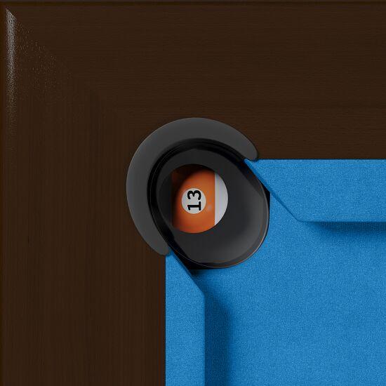 """Automaten Hoffmann Billardtisch """"Dolce Vita Walnuss"""" 5,5 ft, Blau"""