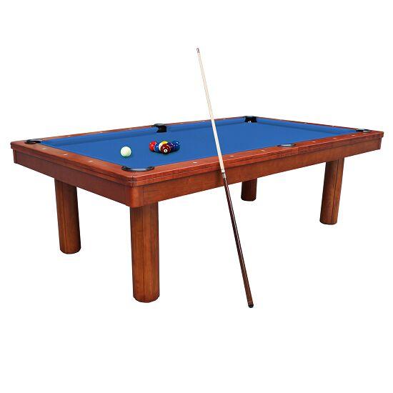 """Automaten Hoffmann Billardtisch """"Excellent in Kastanie"""" Modell 2020 7 ft (Spielfeld 198x99 cm), Simonis 860 Tournament-Blue"""