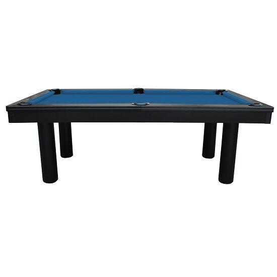 """Automaten Hoffmann Billardtisch """"Excellent in Schwarz"""" Modell 2020 8 ft (Spielfeld 224x112 cm), Anti-Fleck Blau"""