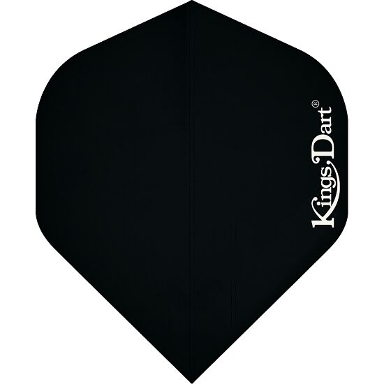 "Kings Dart Flights ""Uni"" Schwarz, Full"
