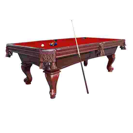 "Stradivari Billardtisch ""Windsor Classic in Nussbaum"" 9 ft (Spielfeld 254x127 cm), Simonis 860 Red"