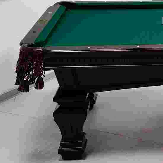 "Stradivari Billardtisch ""Windsor Modern in Mahagoni"" 9 ft (Spielfeld 254x127 cm), Simonis 860 Blue-Green"