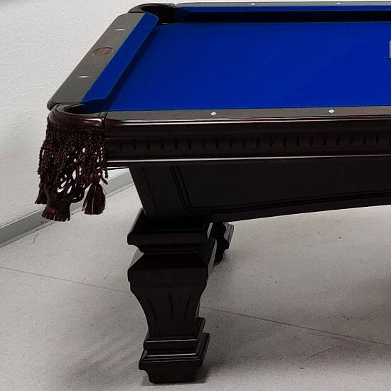 "Stradivari Billardtisch ""Windsor Modern in Mahagoni"" 9 ft (Spielfeld 254x127 cm), Simonis 860 Royal-Blue"