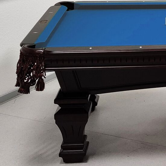 "Stradivari Billardtisch ""Windsor Modern in Mahagoni"" 9 ft (Spielfeld 254x127 cm), Simonis 860 Tournament-Blue"