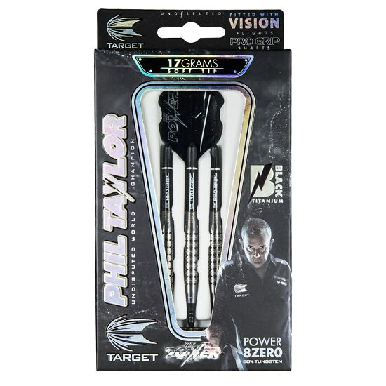 "Target Softdartpfeil ""Phil Taylor Power 8 Zero Black P8Z3"" 18 g"