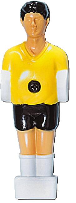 Kickerfigur 13mm Gelb-Schwarz
