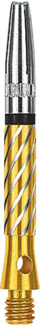Kings Dart® Schaft mit drehbarer Spitze Short = 35 mm, Gold