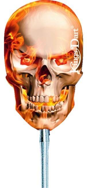 "Kings Dart® Dart Flight ""Totenkopf"" Fire Skull"