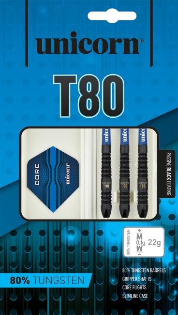 """Unicorn® Steeldartpfeil """"Core XL T80"""" 22 g, Zylindrisch"""