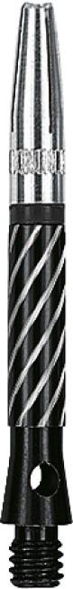 Kings Dart Schaft mit drehbarer Spitze Short = 35 mm, Schwarz