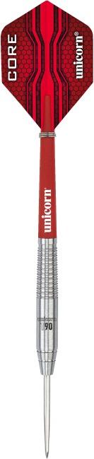 """Unicorn Steeldartpfeil """"Core XL T90"""" 22 g, Zylindrisch"""