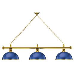 "Automaten Hoffmann Billardlampe ""London"", Aufhängung Messing Blau"