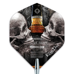 "Kings Dart® Dart Flight ""Skull"" Skull'n'Whisky"