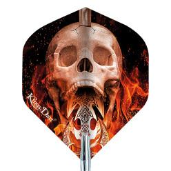 """Kings Dart® Dart Flight """"Skull"""" Fire Skull"""