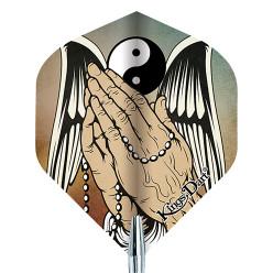 "Kings Dart® Dart Flight ""Tattoo"" Praying Hands"