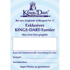 Kings Dart® Turnier-Werbeplakat