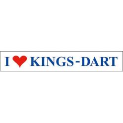 Kings Dart® Aufkleber