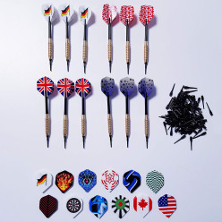 Kings Dart® Set: 12 Softdartpfeile, 36 Flights und 100 Spitzen