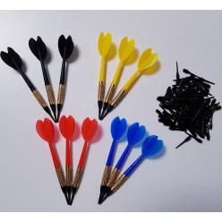 Kings Dart® Set: 12 Softdartpfeile Hobby mit 100 Longlife-Spitzen