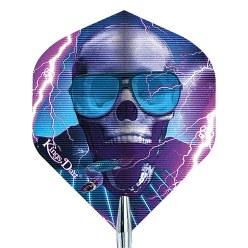"""Kings Dart® Dart Flight """"Skull"""" Violet Skull"""