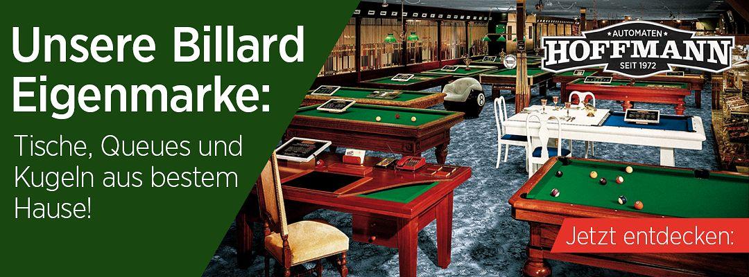 Unsere Billard Eigenmarke: Tische, Queues und Kugeln aus bestem Hause!