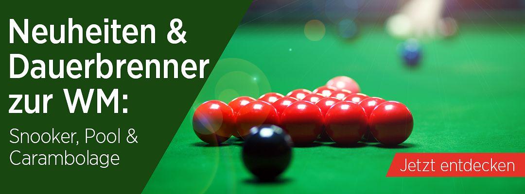 Neuheiten & Dauerbrenner zur Snooker-WM