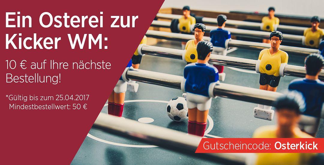 Tischfussball WM: 10 € auf Ihre nächste Bestellung bei Automaten Hoffmann